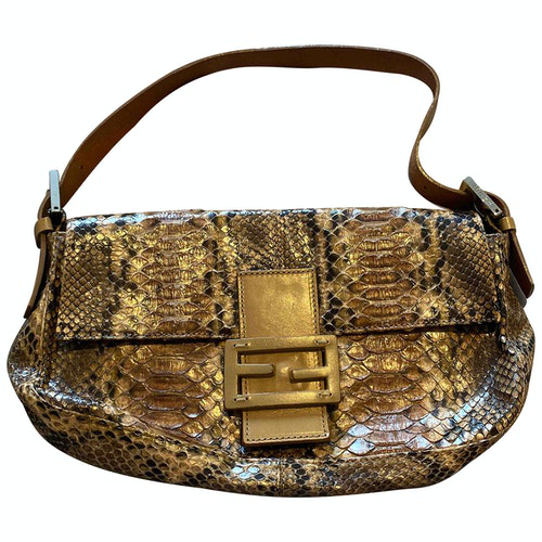 Fendi Baguette Multicolour Python Handbag