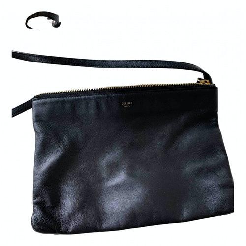 Celine Trio Black Leather Handbag