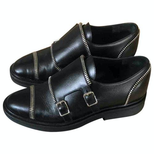 Giuseppe Zanotti Black Leather Lace Ups