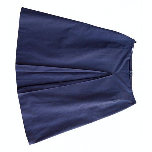 Jil Sander Blue Cotton Skirt