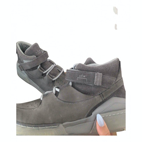 A-cold-wall* Grey Suede Trainers
