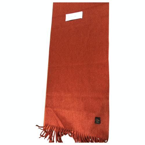 Loro Piana Orange Cashmere Scarf & Pocket Squares
