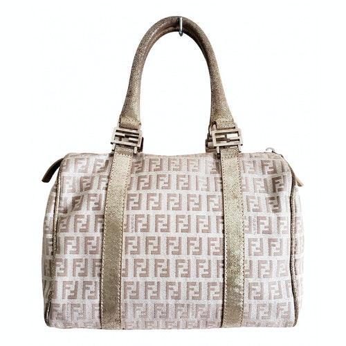 Fendi Silver Cloth Handbag