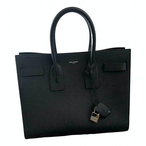 Saint Laurent Sac De Jour Black Leather Handbag