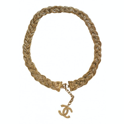 Chanel Cc Gold Metal Necklace