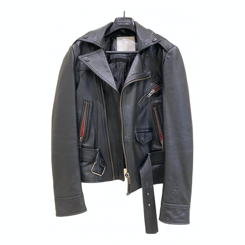 Surface To Air Black Leather Jacket
