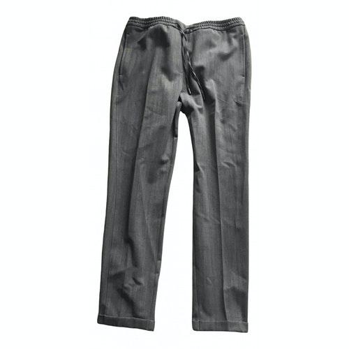 Woolrich Grey Wool Trousers