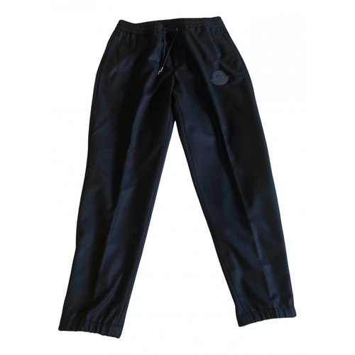 Moncler Blue Wool Trousers
