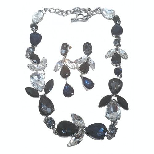 Oscar De La Renta Navy Crystal Jewellery Set