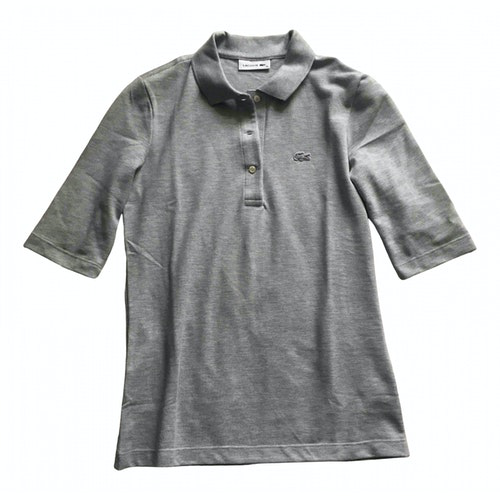 Lacoste Grey Cotton  Top
