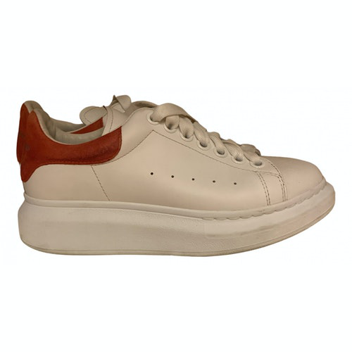 Alexander Mcqueen Oversize White Patent Leather Trainers