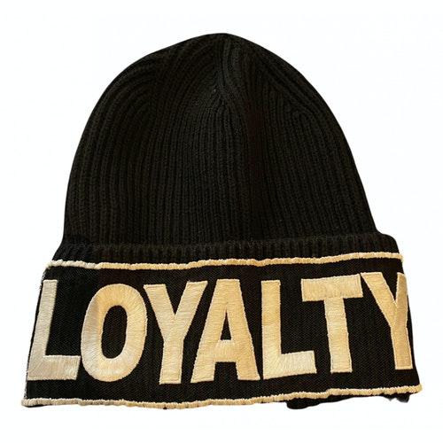 Versace Black Wool Hat