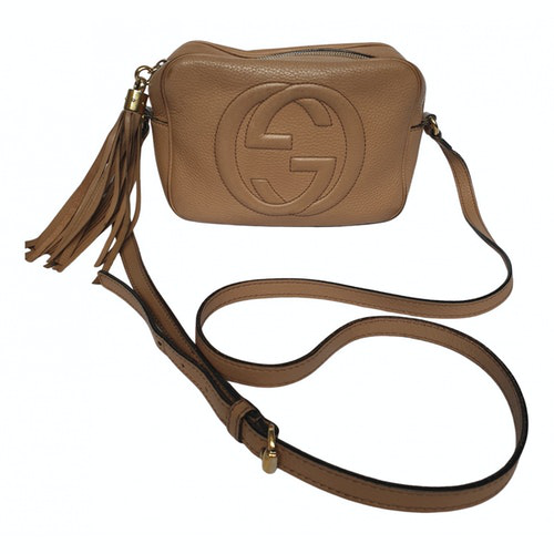 Gucci Soho Beige Leather Handbag