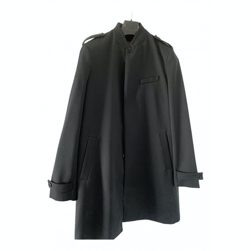 The Kooples Fall Winter 2019 Black Wool Coat
