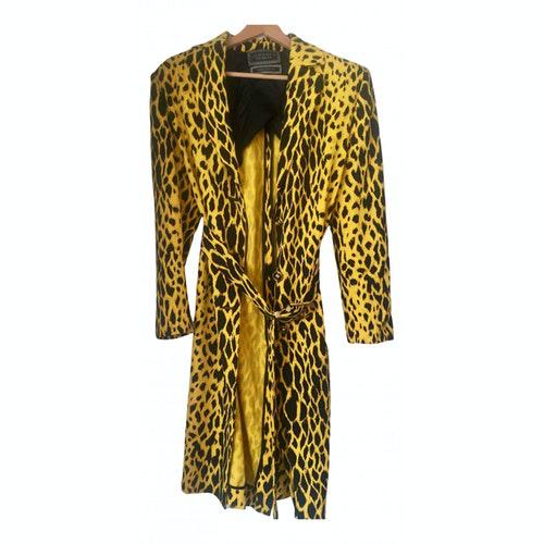 Versace Yellow Wool Coat