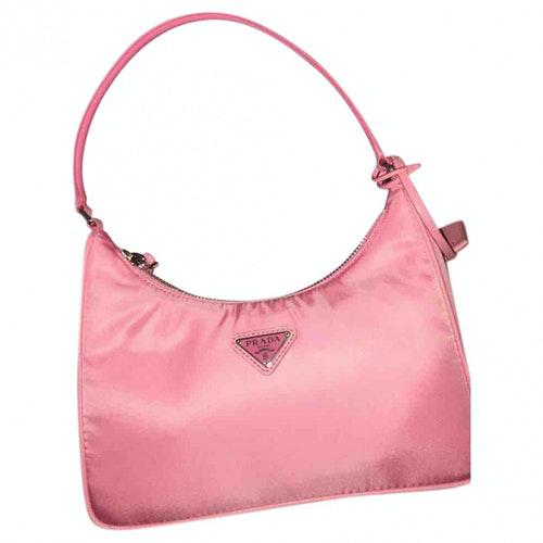 Prada Tessuto  Pink Cloth Handbag