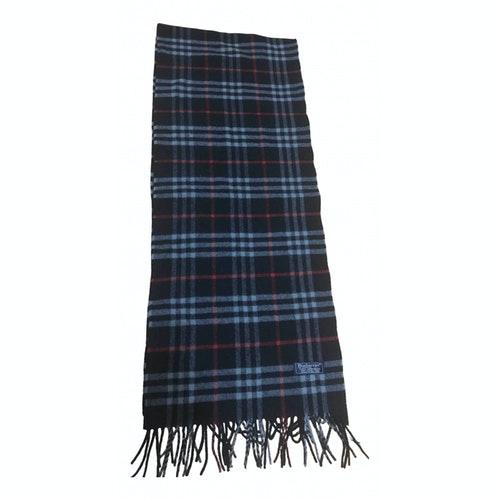 Burberry Navy Wool Scarf