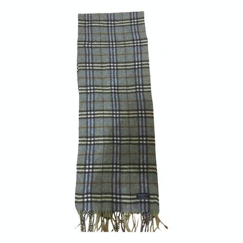 Burberry Green Wool Scarf