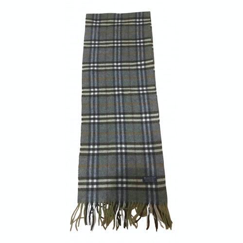 Burberry Green Wool Scarf