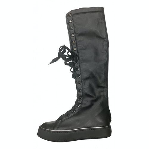 Max Mara Black Leather Boots