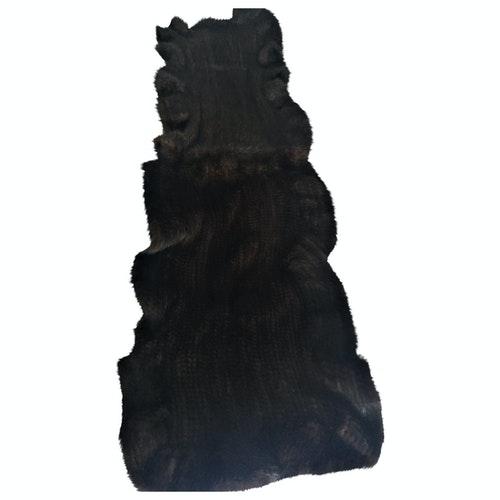 Les Inconnus Brown Fur Scarf