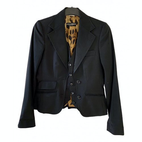 Dolce & Gabbana Black Cotton Jacket