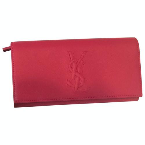 Saint Laurent Belle De Jour Pink Leather Wallet