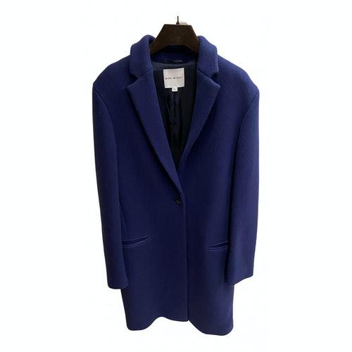 Mira Mikati Blue Wool Coat