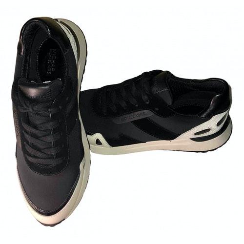 Michael Kors Black Leather Trainers