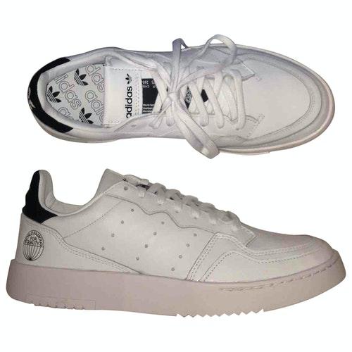 Adidas Originals White Leather Trainers