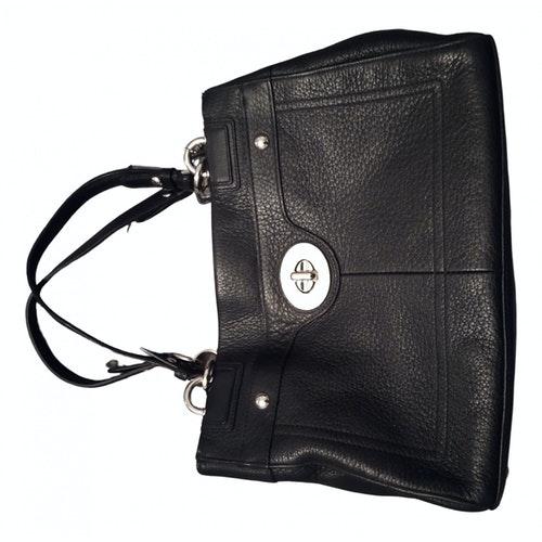 Coach Mercer Satchel 24 Black Leather Handbag