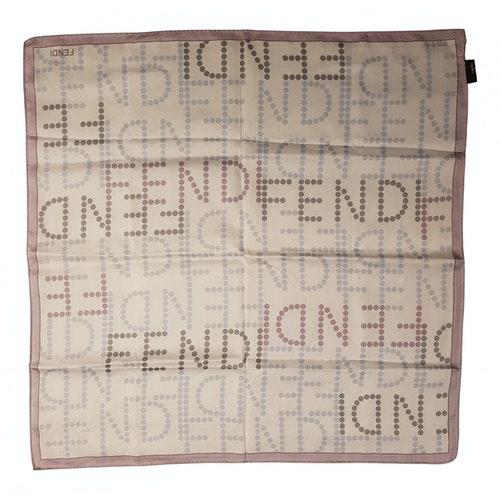 Fendi Purple Cotton Silk Handkerchief