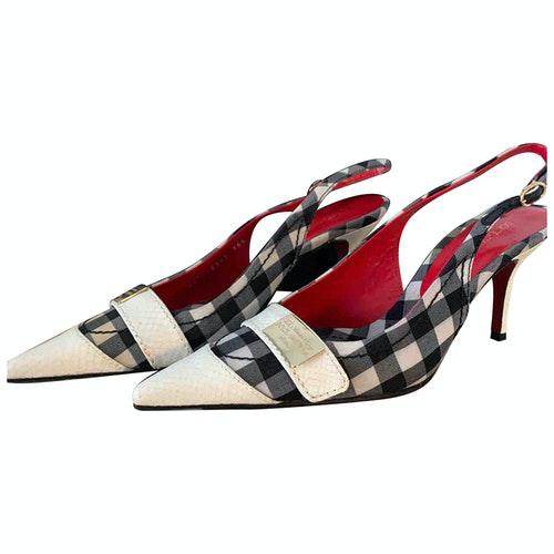Dolce & Gabbana White Cloth Heels