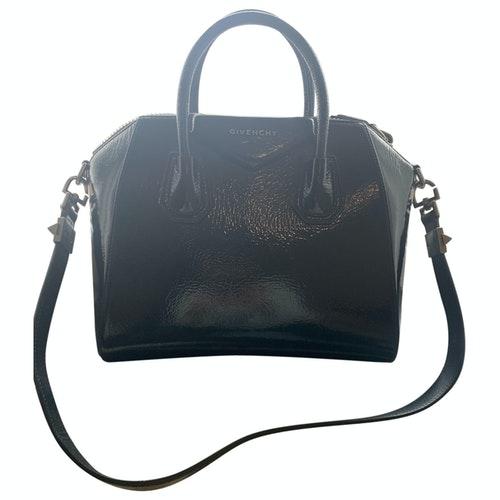 Givenchy Antigona Blue Patent Leather Handbag