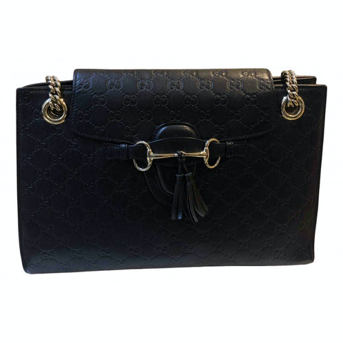 Gucci Emily Black Leather Handbag