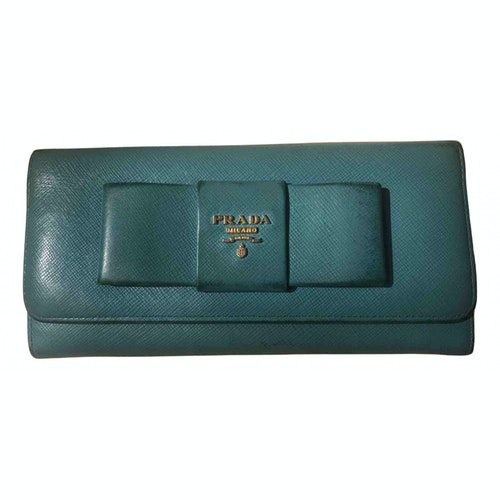 Prada Turquoise Leather Wallet