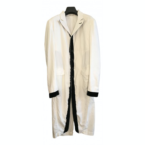 Ann Demeulemeester White Cotton Coat