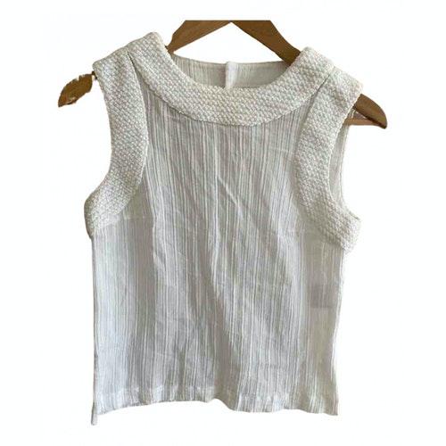 Chanel White Cotton  Top
