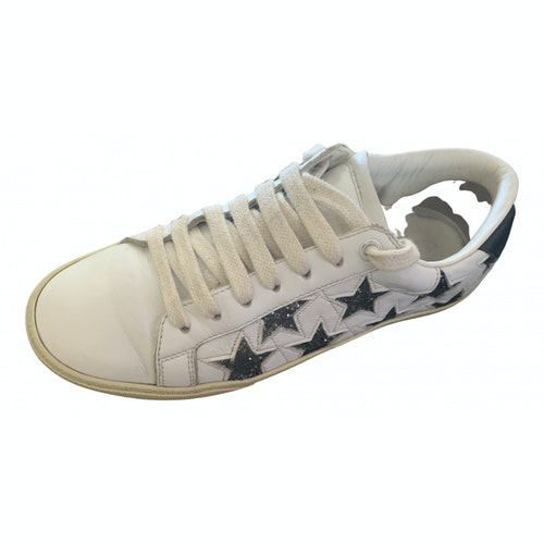 Saint Laurent White Leather Trainers