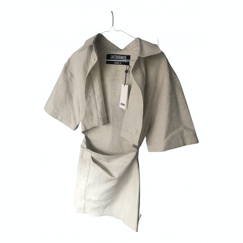 Jacquemus Beige Linen Dress
