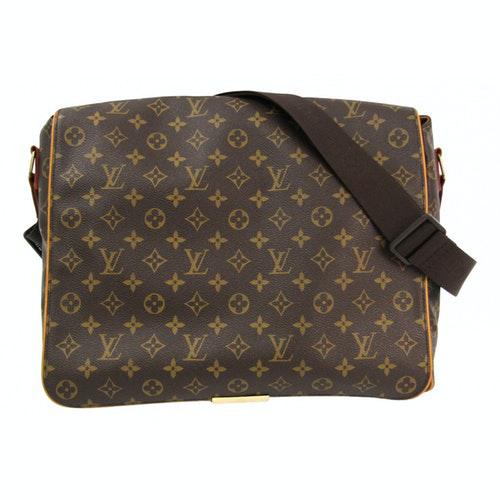 Louis Vuitton Abbesses Messenger Brown Cloth Bag