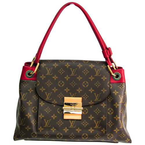 Louis Vuitton Olympe Brown Cloth Handbag