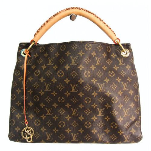 Louis Vuitton Artsy Brown Cloth Handbag