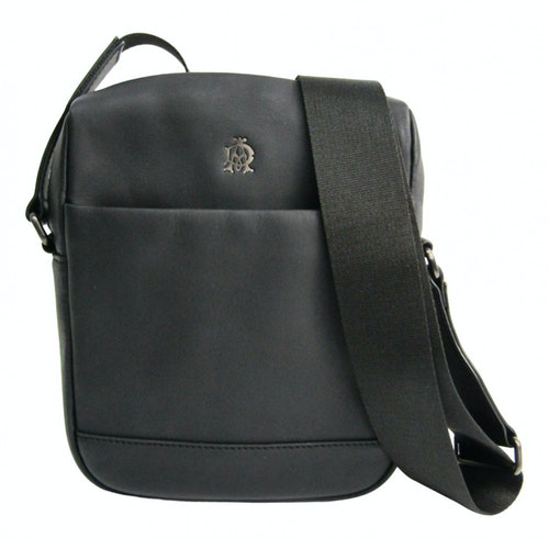Alfred Dunhill Black Leather Bag