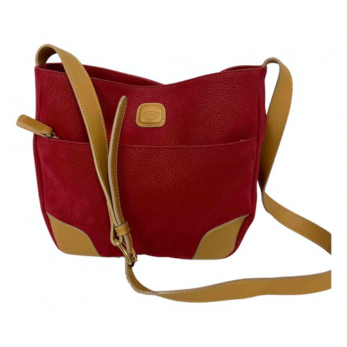 Bric's Red Leather Handbag
