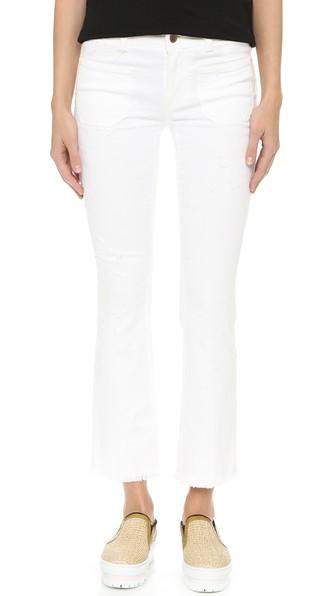 Stella Mccartney Skinny Kick Flare Jeans In Pure White