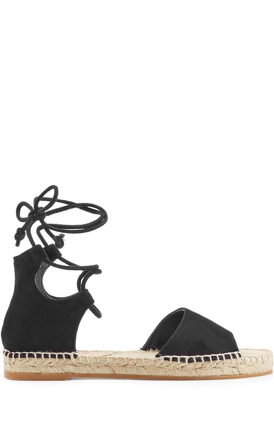 56543cc8d63 Diane Von Furstenberg Dakota Suede Gladiator Espadrille Sandals In Black