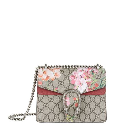 eb829a102b4d7 Gucci Mini Dionysus Gg Blooms Canvas   Suede Shoulder Bag - Beige In  Neutrals