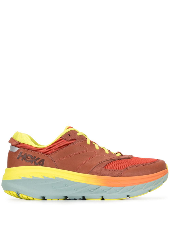 Hoka One One Bondi-l Bevelled Heel Sneakers In Orange