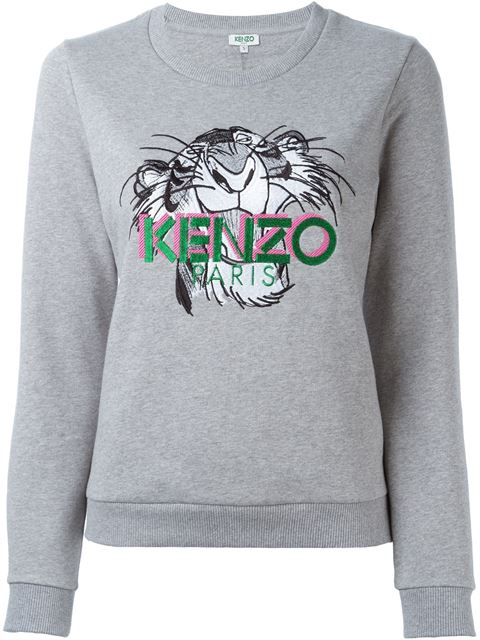 fbfe402168e Kenzo X Jungle Book Shere Khan Cotton-Jersey Sweatshirt In Grey ...